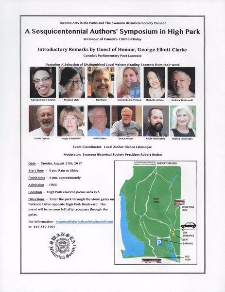 Canada 150 Authors' Symposium in High Park | Open Book